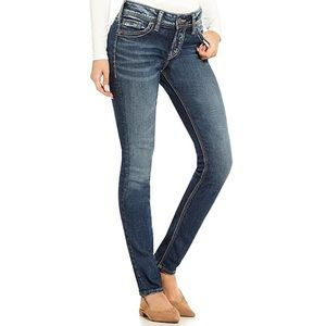 Silver Elyse Straight Jeans